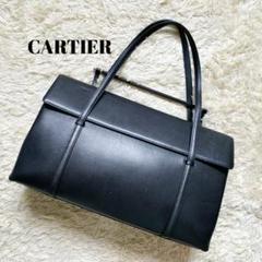 "Thumbnail of ""Cartier ハンドバッグ カボション レザー A4可"""