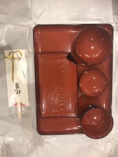 "Thumbnail of ""新品 越前漆器 食い初め食器"""