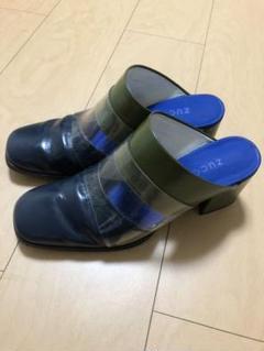 """Thumbnail of """"ズッカzuccaカーキ牛革サンダルLサイズ24.5位ミュール美品"""""""