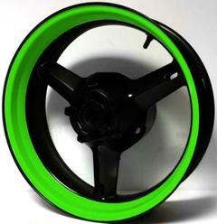 """Thumbnail of """"極太 リムテープ ステッカー バイク ライムグリーン 緑色 ホイール2本分"""""""