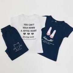"Thumbnail of ""子供服 新品 女の子 110cm 半袖Tシャツ パンツ セット SV43-2"""