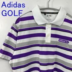 """Thumbnail of """"美品 Adidas GOLF アディダス ゴルフウェア ポロシャツ ボーダー M"""""""