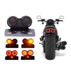"Thumbnail of ""汎用 ツイン テールランプ LED 2灯 バイク オートバイ ナンバーステー"""