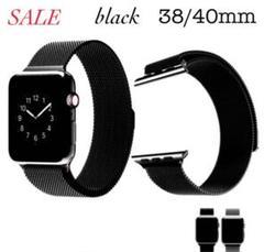 "Thumbnail of ""SALE大好評*Apple Watch 黒 ミラネーゼバンド 38/40mm"""