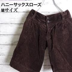 """Thumbnail of """"ハニーサックスローズ ベロア ボーダー ショートパンツ 人気 kids 160"""""""