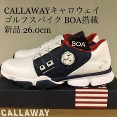"""Thumbnail of """"【新品】キャロウェイ CALLAWAY ゴルフシューズ BOA 白 26.0cm"""""""