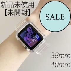"Thumbnail of ""AppleWatch クリアバンド ベルト アップルウォッチ 透明 韓国雑貨"""