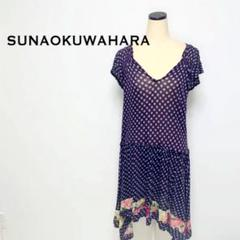 "Thumbnail of ""SUNAOKUWAHARA スナオクワハラ ワンピース 透け感 ドット柄 花柄"""