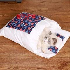 "Thumbnail of ""猫用ベッド ペットベッド 猫用寝袋 お布団 和風 ぺットクッション ペットマッ"""