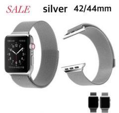 "Thumbnail of ""SALE大好評*Apple Watch シルバーミラネーゼバンド 42/44mm"""