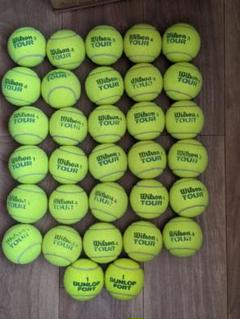 "Thumbnail of ""中古テニスボール32球 日本市場向けに開発された高耐久撥水ボール"""