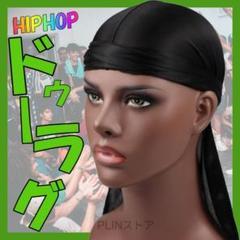"Thumbnail of ""ドゥーラグ 黒 ヒップホップ ドゥラグ DU-RAG 男女兼用 ブラック P42"""