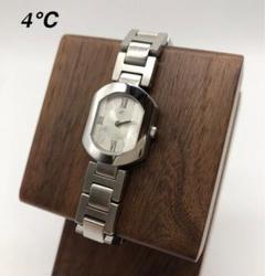 4℃ ヨンドシー 時計 シルバー レディース ブランド時計 お洒落 良品
