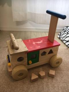 "Thumbnail of ""木製 手押し車 乗用玩具 カラフルバス"""