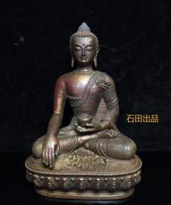 "Thumbnail of ""銅器 精工彫刻釈迦と摩尼の仏像の置物 風水の置物 開運置物 骨董品l"""