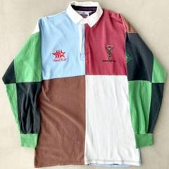"Thumbnail of ""Harlequin F.C.【英国製】希少 90-92 ラグビー ラガーシャツ"""