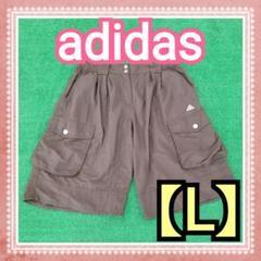 """Thumbnail of """"【adidas】アディダス  ハーフパンツ 【L】ブラウン  ◎ 腹部伸縮ゴム"""""""