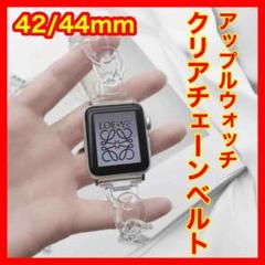 "Thumbnail of ""Apple Watch クリア 透明 チェーン ベルト バンド 42/44mm"""