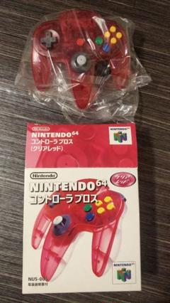 "Thumbnail of ""Nintendo64 コントローラー クリアレッド 【美品】"""