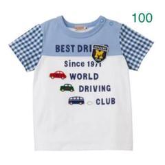 """Thumbnail of """"★ミキハウス★半袖Tシャツ★100★豪華な車やエンブレムのワッペン★日本製★青★"""""""