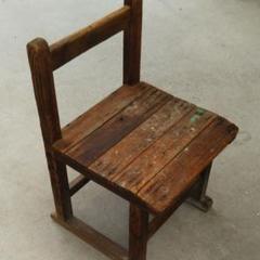 "Thumbnail of ""最終お値下げ   アンティーク     木製小学校の椅子"""
