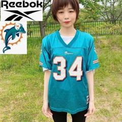 """Thumbnail of """"【NFL】Reebok ドルフィンズ ゲームシャツ アメフト Lサイズ"""""""