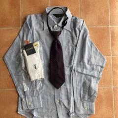 """Thumbnail of """"男の子130センチ 長袖ワイシャツとネクタイと靴下19〜21センチのセットです"""""""