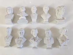 "Thumbnail of ""デッサン人形石膏彫刻彫像音楽家10点セットベートーベンモーツァルトダビデ像バッハ"""