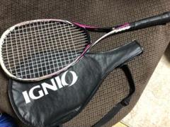 "Thumbnail of ""【中古】IGNIO 軟式テニスラケット カバー付き ②"""