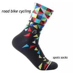 "Thumbnail of ""ロードバイク ソックス サイクリング  ミックスブルー サイクルソックス 自転車"""