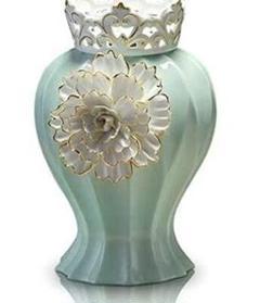 "Thumbnail of ""装飾セラミック花瓶装飾リビングルームモダン装飾家具緑の花瓶工芸品3"""