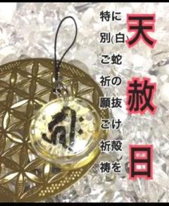 "Thumbnail of ""梵字✨種字✨子✨戌&亥✨キリーク✨金箔✨白蛇の干支お守り【定期的ご祈願ご祈祷済み"""
