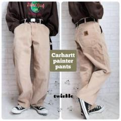"Thumbnail of ""【大人気】90s USA製 Carhartt 革ロゴ ダック地 ペインターパンツ"""