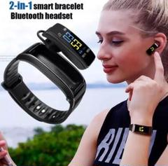 "Thumbnail of ""スマートウォッチ Bluetoothイヤフォン 一体型 最新型 2020 新時代"""