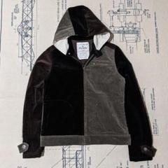 """Thumbnail of """"コーデュロイ パッチワーク 日本製 USED ジャケット ブラック M"""""""