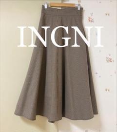 "Thumbnail of ""INGNI バックレースアップフレアスカート"""