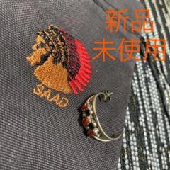 "Thumbnail of ""新品 未使用 SAAD サード ピアス 片耳 赤珊瑚"""