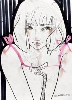 "Thumbnail of ""木原千春5分間ドローイング/girl"""