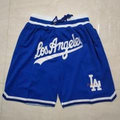 """Thumbnail of """"JUST DONロサンゼルスレイカーズの青いレブロンジェームズのショーツNB9"""""""