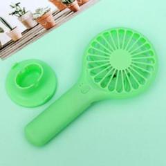 "Thumbnail of ""手持ち扇風機 ハンディ扇風機 7枚羽 USB充電式 アウトドア グリーン 緑"""