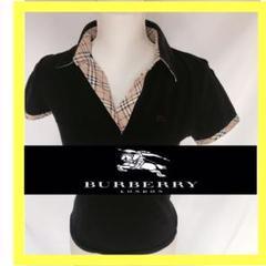 "Thumbnail of ""BURBERRYバーバリーロンドン ポロシャツ 黒 38 M"""