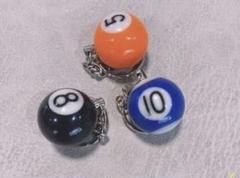 "Thumbnail of ""ビリヤード キーホルダー 3個  ボール直径は25mmです"""