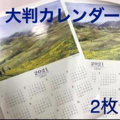 """Thumbnail of """"しんきん カレンダー 2021 矢ヶ崎晴江 大判タイプ 2枚 日本画★折って発送"""""""