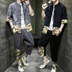 "Thumbnail of ""綿と麻のスーツの男服青年漢服復古服のファッション63"""