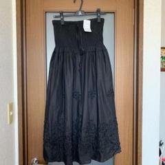 """Thumbnail of """"2way お花柄お洒落すぎるシックで華やかなブラックスカート"""""""