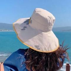 "Thumbnail of ""漁師の帽子はって紫外線を防いを遮ります大沿潮の女性のファッションはコーディネート"""