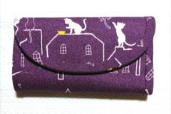 """Thumbnail of """"蛇腹カードケース:ネコさん/紫"""""""