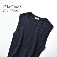 """Thumbnail of """"MARGARET HOWELL LINEN CABLE VEST リネンベスト"""""""