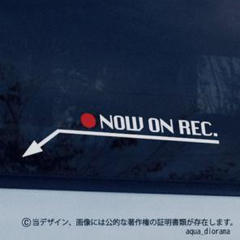 """Thumbnail of """"NOW ON REC/録画中ステッカー:シカゴアロー左下/赤丸WH"""""""