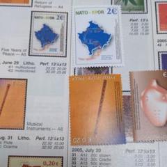 "Thumbnail of ""珍しいコソボ切手。2004年。珍品。"""
